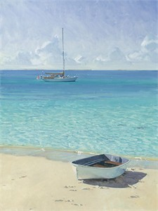 "Christopher Blossom Hand Signed & Numbered Limited Edition Canvas Giclee:""Ashore at Soldier´s Cay"""