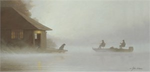 "John Weiss Handsigned & Numbered Limited Edition Canvas Giclee:""One Morning in October"""
