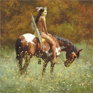 "Howard Terpning Anniversary Edition Artist Proof Canvas Giclée :""Color of Sun"""