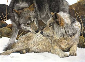 "Judy Larson Handsigned and Numbered  Limited Edition Giclee on Canvas:""The Alphas"""
