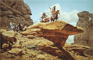 "Frank McCarthy Anniversary Edition Limited Edition Canvas Giclee:""The Hostiles"""