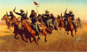 "Frank McCarthy Hand Signed and Numbered Limited Edition Print:""Buffalo Soldiers: Advance As"""
