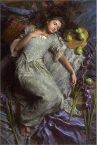 """Morgan Weistling Limited Edition Giclee on Canvas: """"Dreams in Blue"""""""