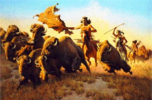 "Frank McCarthy Hand Signed and Numbered Limited Edition Print:""Splitting the Herd"""