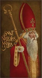"James Christensen Fine Art Coated Giclée Mounted on Claybord®:""St. Nicholas of Myra"""