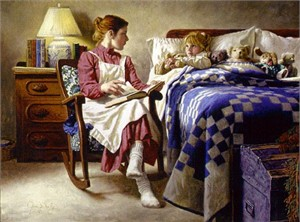 "Jim Daly Limited Edition Print: ""Bedtime Story"""