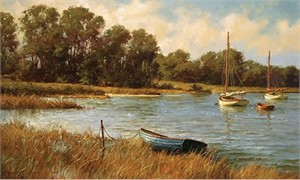 "Don Demers Handsigned & Numbered Limited Edition Canvas Giclee:""Nantucket Morning"""