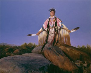 "Don Crowley Handsigned & Numbered Limited Edition Canvas Giclee:""Prayer to the Morning Sun"""