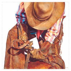 """Nelson Boren Handsigned and Numbered Limited Edition Print:""""Saddle Straps"""""""