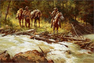 "Howard Terpning Hand Signed and Numbered Limited Edition Canvas Giclee:""Broken Trail"""
