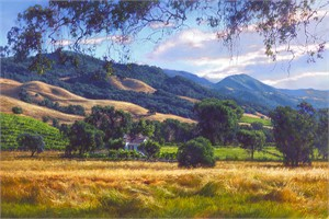 """June Carey Handsigned and Numbered Limited Edition Canvas Giclee:""""September Gold"""""""