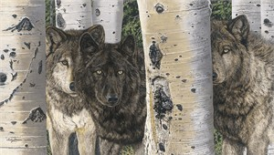 """Judy Larson Handsigned and Numbered Limited Edition Canvas Giclee:""""Brothers and Sisters """""""