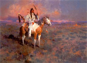 "James Reynolds Limited Edition Print:""Mystic Of The Plains"""