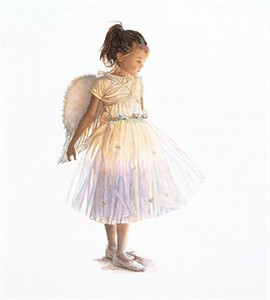 """Steve Hanks Handsigned & Numbered Limited Edition Canvas Giclee:""""My Little Angel"""""""