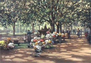 """Paul Landry Artist Signed Limited Edition Hand Pulled Lithograph:""""Summer Potpourri"""""""