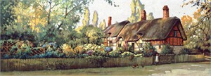 "Paul Landry Limited Edition Print:""An English Cottage"""