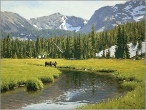 "Tucker Smith Hand Signed Limited Canvas Giclee:""Lost Cabin Creek"""