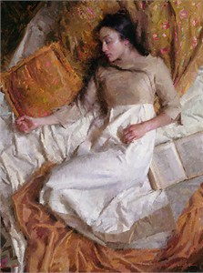 "Morgan Weistling Limited Edition  Giclee on Canvas: ""Dreams in Gold"""