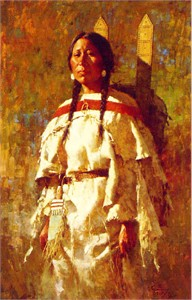 "Howard Terpning Limited Edition Print:""Cheyenne Mother"""