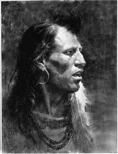 """Howard Terpning Hand Signed and Numbered Limited Edition MuseumEdition™ Giclée Canvas:""""Telling of the Legends"""""""