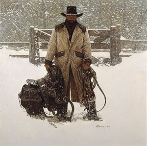 """James Bama Hand Signed and Numbered Limited Edition Canvas Giclee:""""Buffalo Bill-4th of July """""""
