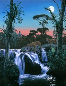 "Rod FrederickHandsigned and Numbered Limited Edition Print:""Tropic Moon"""