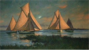 """Don Demers Handsigned & Numbered Limited Edition Giclee on Canvas:""""Between the Sun and the Moon"""""""
