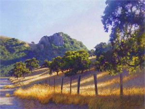 "June Carey Handsigned & Numbered Limited Edition Giclee on Canvas:""Pacheco Pass"""