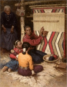 "Z. S. Liang Handsigned & Numbered Limited Edition Fine Art Masterwork™ Giclée Canvas :""Family Tradition, Navajo"""