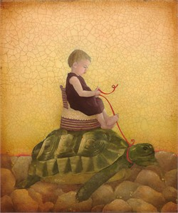 "Emily Mcphie Limited Edition Fine Art SmallWorks™ Giclée Canvas: ""Tortoise"""