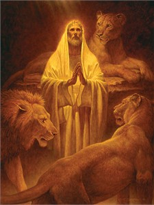 "Scott Gustafson Handsigned and Numbered Limited Edition:""Daniel in the Lion's Den"""