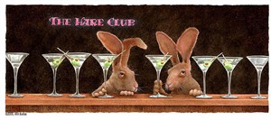 """Will Bullas Handsigned and Numbered Limited Edition Giclee on Canvas:""""The Hare Club"""""""