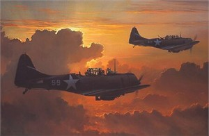 "William Phillips Handsigned and Numbered Limited Edition Giclée Canvas:""Dauntless Against a Rising Sun"""