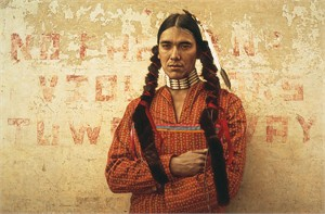 """James Bama Handsigned and Numbered Limited Edition Anniversary Canvas Giclee:""""Contemporary Sioux Indian"""""""