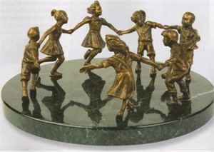 "Gary Lee Price Fine Art Bronze Sculpture:""Circle of Peace"""