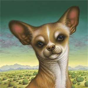 "Braldt Bralds Handsigned and Numbered Limited Edition Giclee on Canvas:""Chihuahua de Chimayo"""