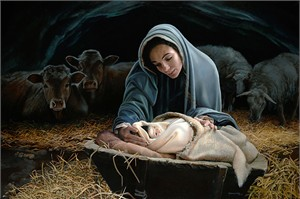 """Liz Lemon Swindle Hand Signed and Numbered Limited Edition Canvas Giclee:""""The Young Messiah"""""""