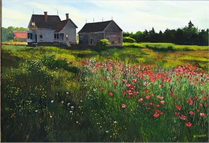 """Sally Caldwell Fisher Handsigned and Numbered Limited Edition Giclee on Canvas:""""Gone to Seed"""""""
