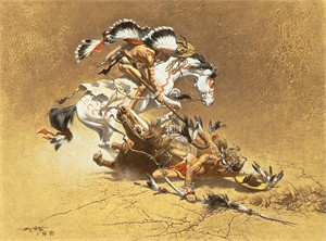 "Frank McCarthy Limited Anniversary Edition  Canvas Giclee:""The Coup"""