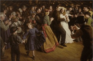 "Morgan Weistling Handsigned and Numbered Limited Edition Giclee on Canvas:""The First Dance, 1884 Americana"""