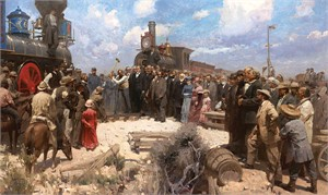 """Mian Sutu Handsigned and Numbered Limited Edition MasterWork™ Giclee  Canvas:""""Golden Spike Ceremony"""""""
