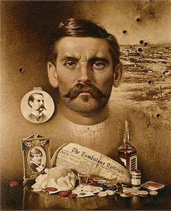 "Don Crawley Handsigned & Numbered Limited Edition:""Doc Holliday: ""Well I´ll be Damned!"""""