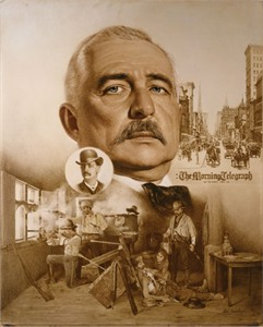 "Don Crowley Handsigned & Numbered Limited Edition Giclee on Canvas:""Bat Masterson: Two Worlds of Bat Masterson"""