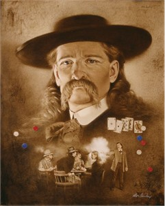"""Don Crowley Handsigned & Numbered Limited Edition Giclee on Canvas:""""Wild Bill Hickock: The Premonition"""""""