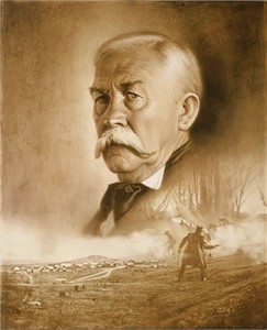 """Don Crowley Handsigned & Numbered Limited Edition Giclee on Canvas:""""Virgil Earp: Day of Decision"""""""