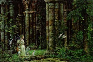"""James C. Christensen Limited Edition Print: """"Queen Mab in the Ruins"""""""