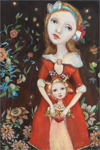 "Cassandra Barney Handsigned and Numbered Fine Art SmallWorks™ Giclée Canvas:""Nora"""