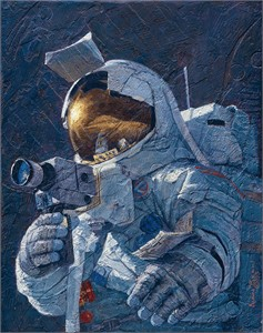 """Alan Bean Astronaut Artist Hand-Signed Limited Edition Canvas Giclee:""""My Brother Jim Irwin"""""""