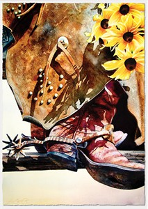 """Nelson Boren Handsigned and Numbered Fine Art SmallWorks™ Giclée on Paper:""""Black-Eyed Suzies for You"""""""