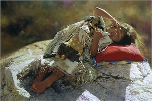 "Don Crowley Handsigned and Numbered Fine Art SmallWorks™ Giclée Canvas:""Naptime"""